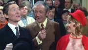Kenneth Williams, Sid James & Jacki Piper in 'Carry On at Ypor Convenience'