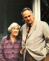 Patrick Moore with his mother at Farthings