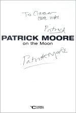 Sir Patrick Moore inscribed copy of his book 'Patrick Moore on the Moon'
