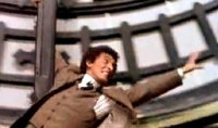 Robert Powell in the famous 'Big Ben' scene from 'The Thirty Nine Steps' (1978)