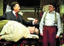 Robert Powell, Joe Pasquale & Pete Dunwell in 'Doctor in the House'