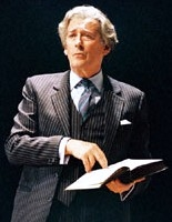 Robert Powell as Anthony Blunt in Alan Bennett's play 'A Question of Attribution' in 2002