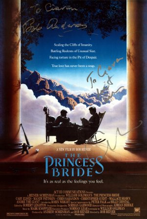 Masterprint for 'The Princess Bride' signed by Bob Anderson and Cary Elwes