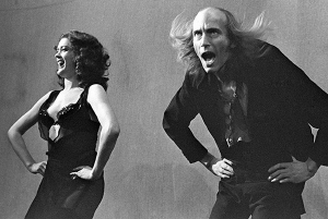 Patricia Quinn & Richard O'Brien in 'The Rocky Horror Show' at the Royal Court Theatre Upstairs (1973)