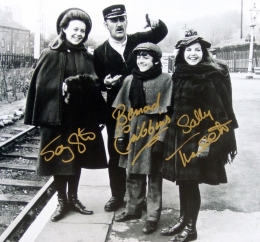 Photograph of 'The Railway Children' signed by Jenny Agutter, Bernard Cribbins and Sally Thomsett