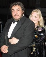 John Rhys-Davies with his close friend Deb, at a 'Lord of the Rings' premiere