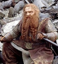 John Rhys-Davies as Gimli in 'The Lord of the Rings - The Two Towers'