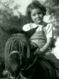 Diana Rigg as a child in India