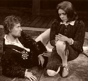 Diana Rigg as Viola, with Christopher Bidmead in 'Twelfth Night' (1966)
