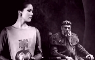 Diana Rigg as Cordelia, with Paul Scofield in 'King Lear' (1962)