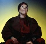 Diana Rigg in the title role of Berthold Brecht's 'Mother Courage' (1995)