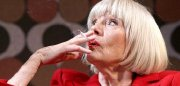 Diana Rigg smokes in the play 'All About My Mother' (2007)