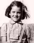 Diana Rigg as a child