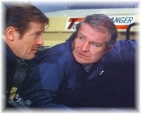 Shane Rimmer with Roger Moore in The Spy Who Loved me