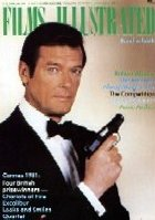 Roger Moore as James  Bond on the cover of 'Films Illustrated'