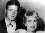 Roger Moore with his 2nd wife Dorothy Squires