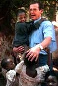 Sir Roger Moore in Zambia for UNICEF