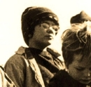 Tim Robbins aged 10 in an anti-Vietnam War film (image used for the cover of his cd)