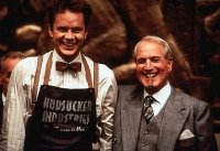 Tim Robbins & Paul Newman in 'The Hudsucker Proxy' (1994)