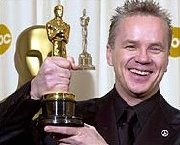 Tim Robbins with his Oscar for 'Best Supporting Actor' in 'Mystic River' (2003)