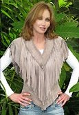 Tanya Roberts modelling one of her range of fitted vests