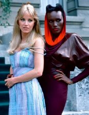 Tanya Roberts & Grace Jones in 'A View to a Kill'