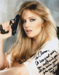 Tanya Roberts signed photograph of her as Stacey Sutton