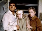 Rod Taylor, Tippi Hedren & Jessica Tandy in 'The Birds'