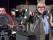 Director George Romero at work