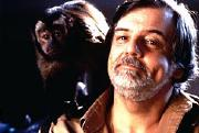 George Romero with Ella the monkey (Monkey Shines)