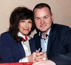 Andrew Ross with Fenella Fielding