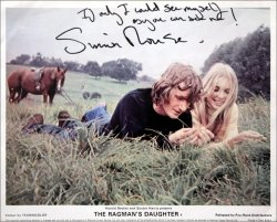 Simon Rouse has signed this original still from 'The Ragman's Daughter'