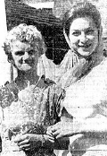 Alan Sillitoe's mother Sylvina with actress Shirley Anne Field