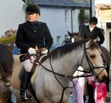 Jennifer Saunders taking part in the foxless Boxing Day Hunt at Chagford in 2007