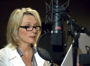 Jennifer Saunders voicing the part of April Shrink in 'Coraline'