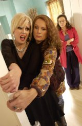 Jennifer Saunders, Joanna Lumley & Julia Sawalha in 'Absolutely fabulous'