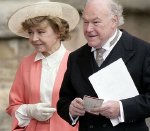 Prunella Scales with her husband Timothy West