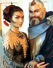 Catherine Schell & Brian Blessed in 'Space: 1999'
