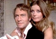 Catherine Schell & Christopher Plummer in 'The Retun of the Pink Panther'