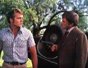 John Schneider and Kirk Douglas in 'Eddie Macon's Run'