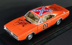 Model of the 'General Lee' signed by John Schneider