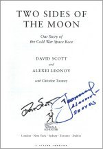 'Two Sides of the Moon' signed by David Scott and Alexei Leonov