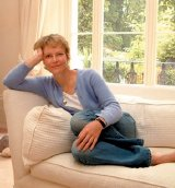Jenny Seagrove relaxes at home