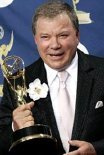 William Shatner with one of his two  Emmy Awards