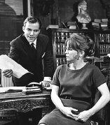 William Shatner & Julie Harris in the Broadway comedy 'A Shot in the Dark'