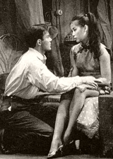 William Shatner & France Nuyen in the first stage production of 'The World of Suzie Wong'