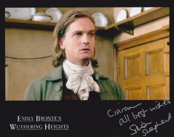 Simon Shepherd signed photograph of him as Edgar Linton in 'Wuthering Heights'