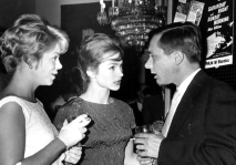 Rachel Roberts, Shirley Anne Field & Alan Sillitoe at the film Premiere of 'Saturday Night and Sunday Morning'