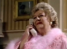 Joan Sims as Lady Fox-Custard in 'Simon and the Witch' (1987-88)