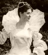 16 year old Elisabeth Sladen as 'Hero' in 'Much Ado About Nothing' performed by the Hillbark Players in 1964
